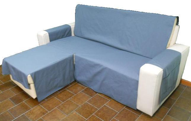Funda sofá chaise longue color gris