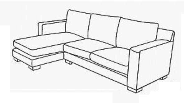 Sofa chaise longue medidas cheap with or without as well - Como hacer forros para sofas ...