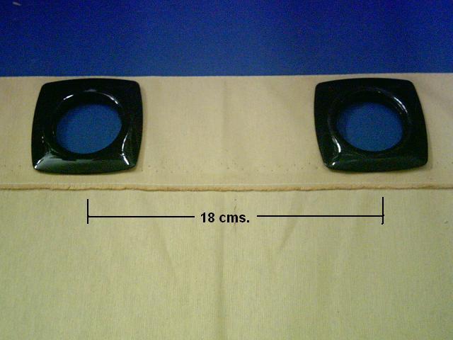 Confección cortinas con ollaos, quinta