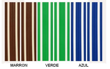 Cortina exterior, antimoscas Mod. Marbella color