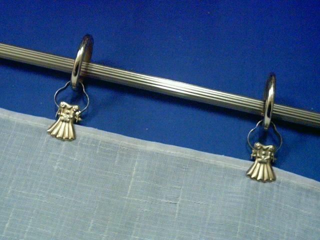 Pinzas concha 50 uds color dorado para colgar cortinas for Anillas de cortinas